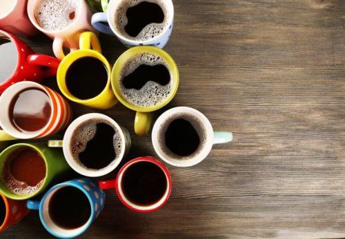 Kaffee Koffein viele Tassen