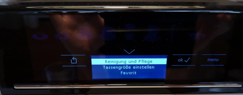 Siemens EQ 6 s300 Display Funktionen