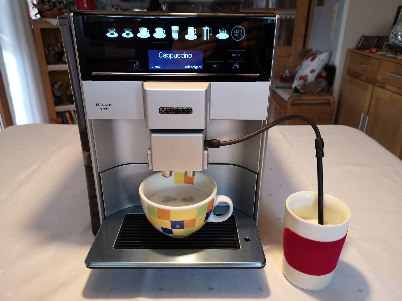 Siemens EQ 6 s300 Milchsystem Cappuccino